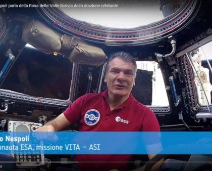 L'astronauta Paolo Nespoli parla della Rosa della Valle Scrivia dalla stazione orbitante