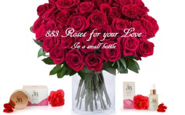 883 Roses for your love in a small bottle.